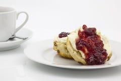传统英国奶油色茶 免版税库存照片