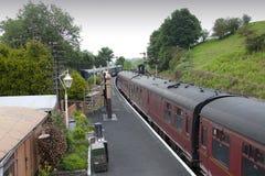 传统英国的火车站 库存图片