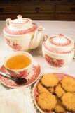 传统茶的时间 免版税库存照片