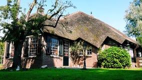 传统荷兰房子在羊角村,荷兰 图库摄影