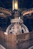 传统荷兰风车内部 免版税图库摄影