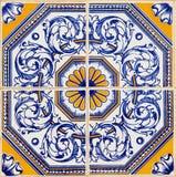 传统葡萄牙azulejos 图库摄影