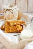传统薄煎饼 库存图片