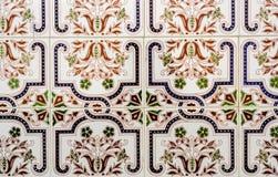 传统装饰西班牙装饰瓦片,原始的cerami 图库摄影