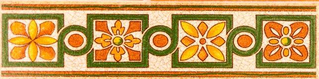 传统装饰西班牙装饰瓦片,原始的cerami 库存照片