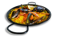 传统西班牙牌照: 肉菜饭valenciana 图库摄影