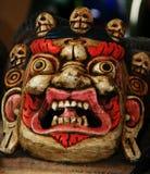 传统西藏Mahakala屏蔽 免版税库存照片