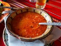传统豆食物希腊的汤 免版税库存图片