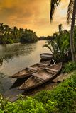 传统越南小船,会安市市,越南 库存图片