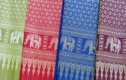 传统越南纺织品 免版税库存图片