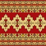 传统部族种族无缝的样式 库存例证