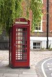 传统配件箱红色的电话 免版税库存图片