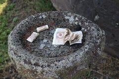 传统金钱提供 库存图片