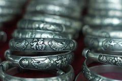 传统镯子中国裂片的样式 免版税库存图片