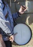 传统长笛演员和鼓手从北部埃斯特雷马杜拉 免版税库存图片