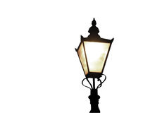 传统闪亮指示的街道 图库摄影