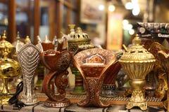 传统阿拉伯燃烧器的香火 图库摄影