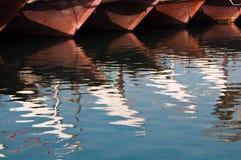 传统阿拉伯的单桅三角帆船 免版税库存图片