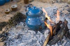 传统阿拉伯的茶 免版税图库摄影
