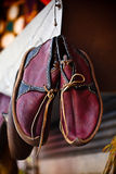 传统阿拉伯鞋子 免版税库存照片