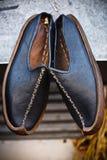 传统阿拉伯鞋子 图库摄影