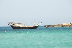 传统阿曼渔船 库存图片