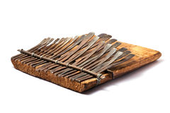 传统非洲仪器kalimba的音乐 库存照片