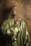 传统非洲衣物的人 图库摄影