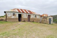 传统非洲的小屋 免版税库存照片