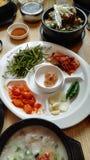 传统韩国样式午餐集合 免版税库存图片