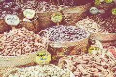 传统香料义卖市场用草本和香料在阿斯旺,埃及 库存图片