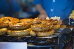 传统香肠商店在泰国 免版税库存照片