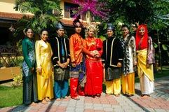 传统马来的服装 免版税库存图片