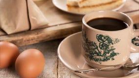 传统马来西亚中国咖啡和鲜美早餐 股票录像