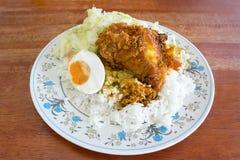 传统马来西亚烹调, Nasi Kandar 免版税库存图片