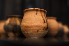 传统马特卡的杯 免版税库存照片