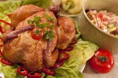 传统鸡的食物 免版税库存图片