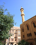 传统贝鲁特黎巴嫩的清真寺 库存图片
