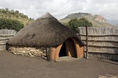 传统basotho的小屋 库存图片