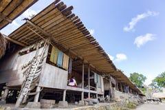 传统Bena房子 免版税图库摄影