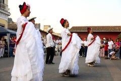传统coatepec的舞蹈演员 库存照片