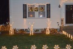 传统cristmass装饰在波士顿, 2016年12月11日的美国 免版税库存照片