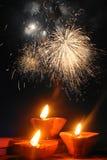 传统diwali的节日 免版税库存照片