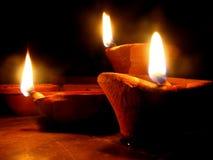 传统diwali的闪亮指示 免版税库存图片