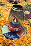 传统diwali的闪亮指示 免版税图库摄影