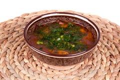 传统kharcho的汤 免版税库存照片