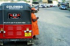 传统lankan sri的出租汽车 免版税库存照片