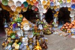 传统maroccan的瓦器 库存照片