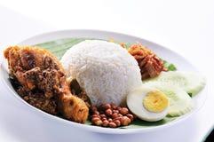 传统Nasi的lemak 库存图片