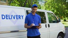 传讯者填装的交付空白,清单报告,邮政局运输 影视素材